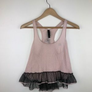 Victoria's Secret baby pink ruffle bow top